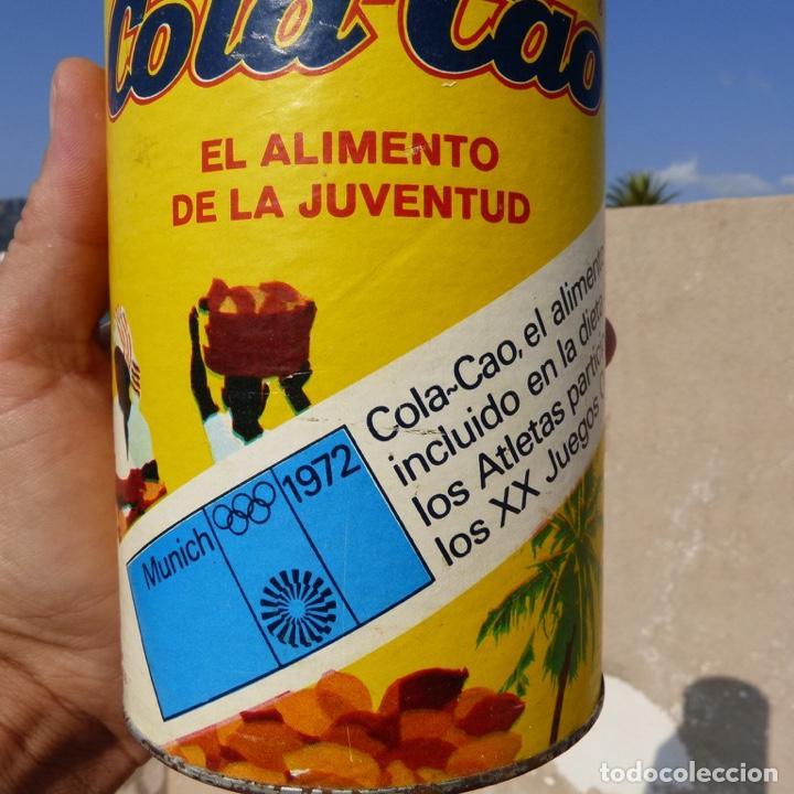 Cajas y cajitas metálicas: Antiguo envase o bote de cola cao 500 gr , munich 1972 - Foto 10 - 276699183
