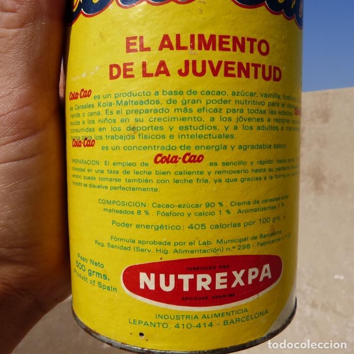 Cajas y cajitas metálicas: Antiguo envase o bote de cola cao 500 gr , munich 1972 - Foto 11 - 276699183