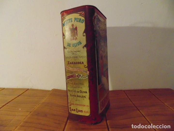 Cajas y cajitas metálicas: Antigua Lata de Aceite de Oliva CARBONELL sin abrir años 70s ? - Foto 2 - 276797318