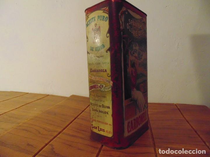 Cajas y cajitas metálicas: Antigua Lata de Aceite de Oliva CARBONELL sin abrir años 70s ? - Foto 3 - 276797318
