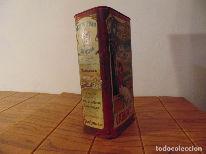 Cajas y cajitas metálicas: Antigua Lata de Aceite de Oliva CARBONELL sin abrir años 70s ? - Foto 4 - 276797318