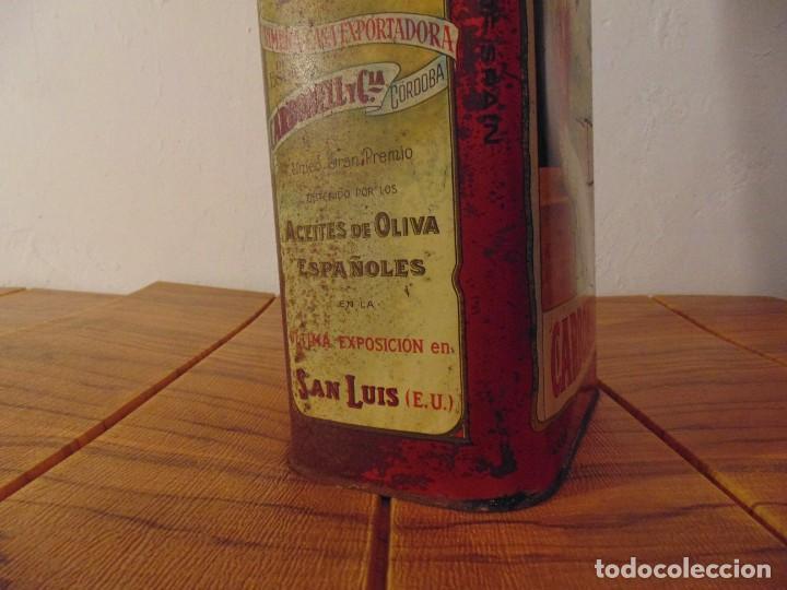 Cajas y cajitas metálicas: Antigua Lata de Aceite de Oliva CARBONELL sin abrir años 70s ? - Foto 5 - 276797318