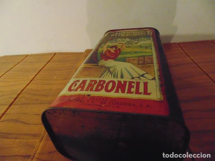 Cajas y cajitas metálicas: Antigua Lata de Aceite de Oliva CARBONELL sin abrir años 70s ? - Foto 10 - 276797318