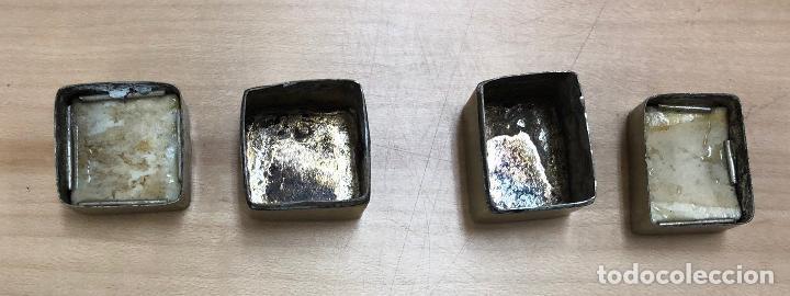 Cajas y cajitas metálicas: BONITA PAREJA DE CAJAS INDIAS CON ESCENAS PINTADAS A MANO - Foto 3 - 277035443