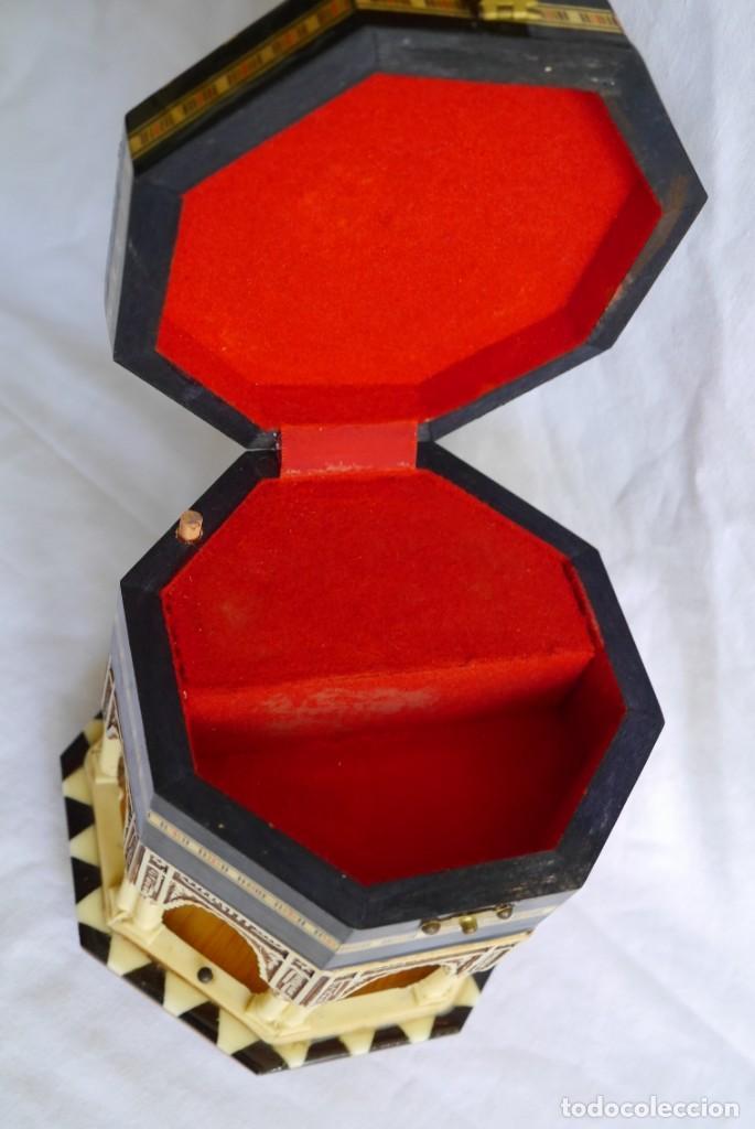 Cajas y cajitas metálicas: Caja joyero musical de marquetería Fuente de los leones Alhambra de Granada - Foto 7 - 277083238