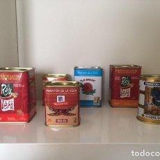 Cajas y cajitas metálicas: 6 LATAS PIMENTÓN DE LA VERA, DE COLECCIÓN. Lote 277126848