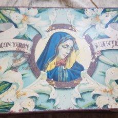Cajas y cajitas metálicas: ANTIGUA LATA MEMBRILLO CHACON YERON PUENTE GENIL. Lote 277128188
