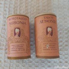Cajas y cajitas metálicas: BOTECITOS AUSONIA TALCO Y BOROTALCO. Lote 277149773