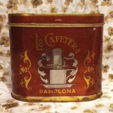 Cajas y cajitas metálicas: LATA AÑOS 70 - CARAMELOS/PASTILLAS DE CAFE . *DULCES UNZUÉ PAMPLONA* - BUEN ESTADO.. Lote 277152488