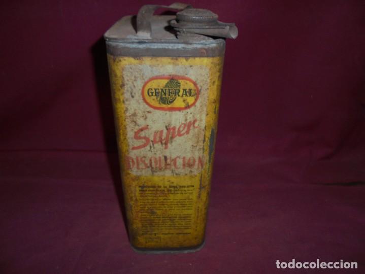Cajas y cajitas metálicas: magnifica antigua lata litografiada super disolucion,general fabrica española torrelavega - Foto 5 - 277660398