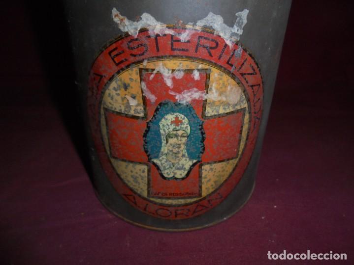 Cajas y cajitas metálicas: magnifica antigua lata litografiada A.LORAN,GASA ESTERILIZADA - Foto 2 - 277660643