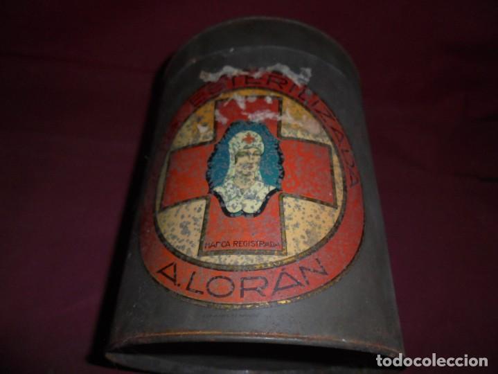 Cajas y cajitas metálicas: magnifica antigua lata litografiada A.LORAN,GASA ESTERILIZADA - Foto 6 - 277660643