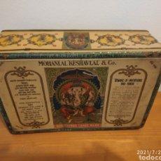 Cajas y cajitas metálicas: 2 CAJAS ANTIGUAS PUBLICIDAD AZAFRANES BUENO ESTADO. Lote 278329468
