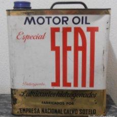 Cajas y cajitas metálicas: LATA VACIA DE , MOTOR OIL ESPECIAL SEAT,. Lote 279327848