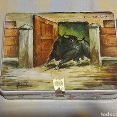 Cajas y cajitas metálicas: CAJA VIUDA DE SOLANO. Lote 280736403
