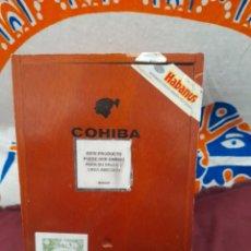 Cajas y cajitas metálicas: CAJA VACÍA, DE PUROS COHIBA ,25 SIGLOS VI. Lote 285052258
