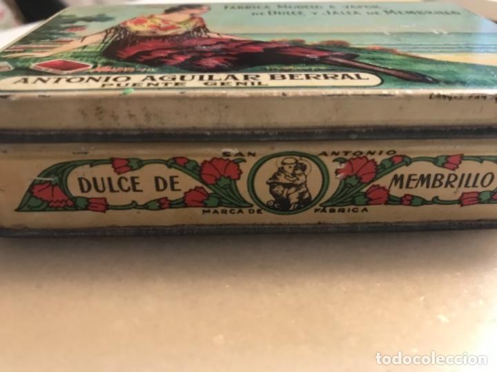 Cajas y cajitas metálicas: Lata litografíada dulce membrillo Antonio Aguilar. Puente Genil - Foto 2 - 285077863