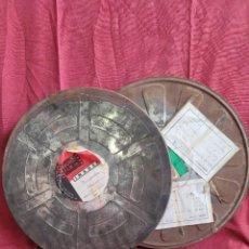 Cajas y cajitas metálicas: LOTE DOS LATAS DE PELÍCULA CON SU CONTENIDO. Lote 285232913