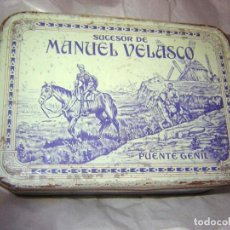 Cajas y cajitas metálicas: CAJA DE DULCE DE MEMBRILLO DE SUCESOR DE MANUEL VELASCO. Lote 285411183