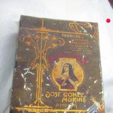 Cajas y cajitas metálicas: CAJA DE HOJALATA JOSE GOMEZ MURIAS ASTORGA LA SANTA TERESA. Lote 285412683