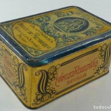 Casse e cassette metalliche: ANTIGUA CAJA DE HOJALATA EL PATROCINIO OBJETO DE COLECCIÓN. Lote 285633913