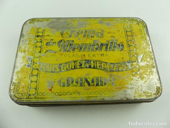 ANTIGUA CAJA DE HOJALATA CREMA DE MEMBRILLO LUIS GOMEZ OBJETO DE COLECCIÓN (Coleccionismo - Cajas y Cajitas Metálicas)