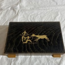 Cajas y cajitas metálicas: CAJA PARA PUROS ART DECO. Lote 286899453