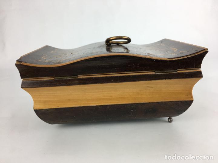 Cajas y cajitas metálicas: PRECIOSA CAJA BAUL COSTURERO FORRADO EN TERCIOPELO - Foto 8 - 286947078