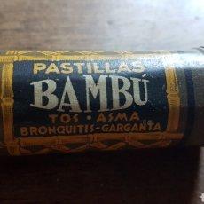 Cajas y cajitas metálicas: ANTIGUA LATA DE PASTILLAS BAMBU. Lote 287012398