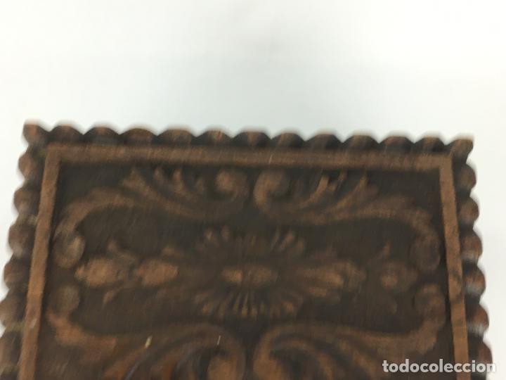 Cajas y cajitas metálicas: PRECIOSO COFRE CAJA EN MADERA MUY TRABAJADA Y DECORATIVA 24 X 16 CM - Foto 3 - 287542398