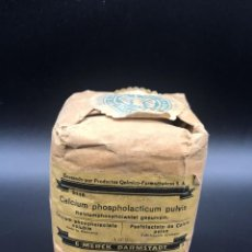 Casse e cassette metalliche: CAJA/SACO DE CALCIUM PHOSPHOLACTLUM PULVIS-FABRICACIÓN ALEMANA. Lote 287599783