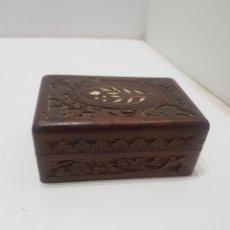 Casse e cassette metalliche: CAJA JOYERO DE MADERA TALLADA. Lote 287650658