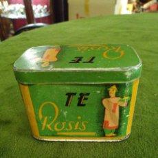 Cajas y cajitas metálicas: LATA DE TE ROSIS, MÁLAGA.REF-2975. Lote 288005028