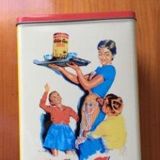 Cajas y cajitas metálicas: CAJA DE LATA DE COLA CAO. REPRODUCCION PUBLICITARIA DE ENVASE ORIGINAL 1960. Lote 288730338