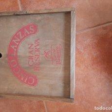 Cajas y cajitas metálicas: CAJA DE MADERA QUESO GARCIA VAQUERO. Lote 293363253