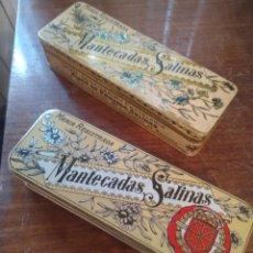 Cajas y cajitas metálicas: CAJAS METÁLICAS ANTIGUAS DE MANTECADOS. Lote 294109433