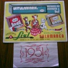Coleccionismo Calendarios: CALENDARIO 1951 LABORATORIOS SIUL .. ESPECIALIDADES FARMACÉUTICAS SECCIÓN VETERINARIA SALAMANCA. Lote 22940999