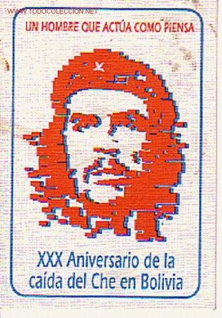 CALENDARIO DE BOLSILLO DEL XXX ANIVERSARIO DE LA CAÍDA DEL CHE EN BOLIVIA. (Coleccionismo - Calendarios)