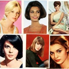 6 calendarios de bolsillo 1972.actrices