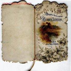 Coleccionismo Calendarios: UN CALENDARIO POR TENER EN SU COLECCION DEL AÑO 1901. Lote 1953681