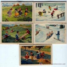 Coleccionismo Calendarios: 5 - CALENDARIOS DE LIBRILLO DEL AÑO 1947 EDITADOS POR ALMENDRINA DE REUS. Lote 5744035