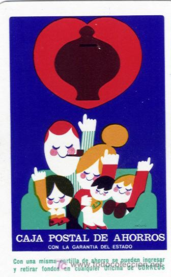 CALENDARIO FOURNIER. CAJA POSTAL DE AHORROS. AÑO 1975. (HF3) (Coleccionismo - Calendarios)