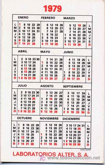 Calendario Del 1979.Calendario Nutriben 1979 Cal50