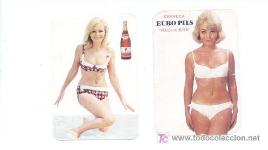 2 CALENDARIOS CERVEZAS EURO PIS.AÑOS 1968 Y 1969 (Coleccionismo - Calendarios)