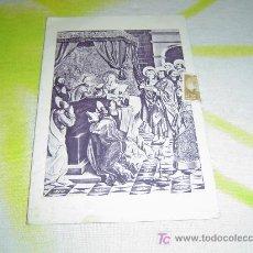 Coleccionismo Calendarios: CALENDARIO -POSTAL MONTSERRAT. AGOSTO 1958.. Lote 4259995