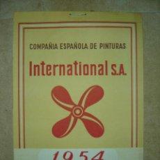 Coleccionismo Calendarios: PRECIOSO CALENDARIO - COMPAÑIA ESPAÑOLA DE PINTURAS INTERNACIONAL S.A. - 1954 - CON MOTIVOS TAURINOS. Lote 13379011