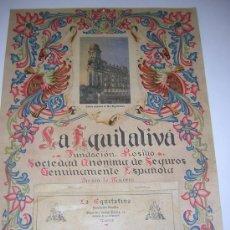 Coleccionismo Calendarios: CALENDARIO MODERNISTA DE SEGUROS LA EQUITATIVA, MADRID, AÑO 1928, 47 X 32 CM.. Lote 40372154