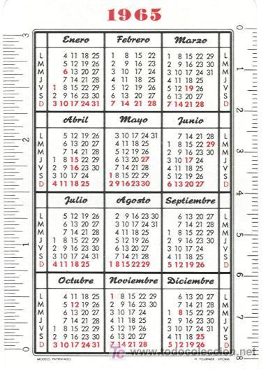 Calendario Del Ano 1965.Calendario Fournier De Aviaco Ano 1965 Hf3