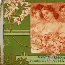 Coleccionismo Calendarios: CALENDARIO AÑO 1912 BERNADAS Y MIR. Lote 4581838