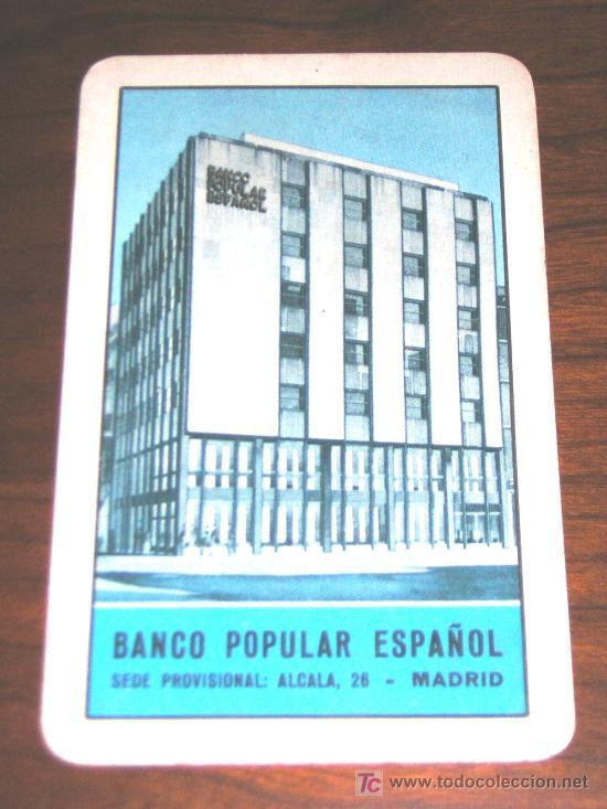 1963 - CALENDARIO H. FOURNIER - BANCO POPULAR ESPAÑOL (Coleccionismo - Calendarios)